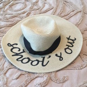 Anthropologie Schools Out straw hat .nwot